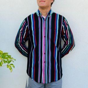 Vintage Panhandle Slim Striped Western Shirt